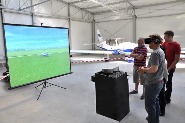 symulator lotów modelami vr