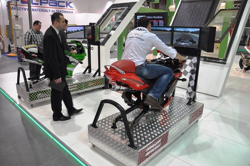 Symulator motocykla na imprezy firmowe.
