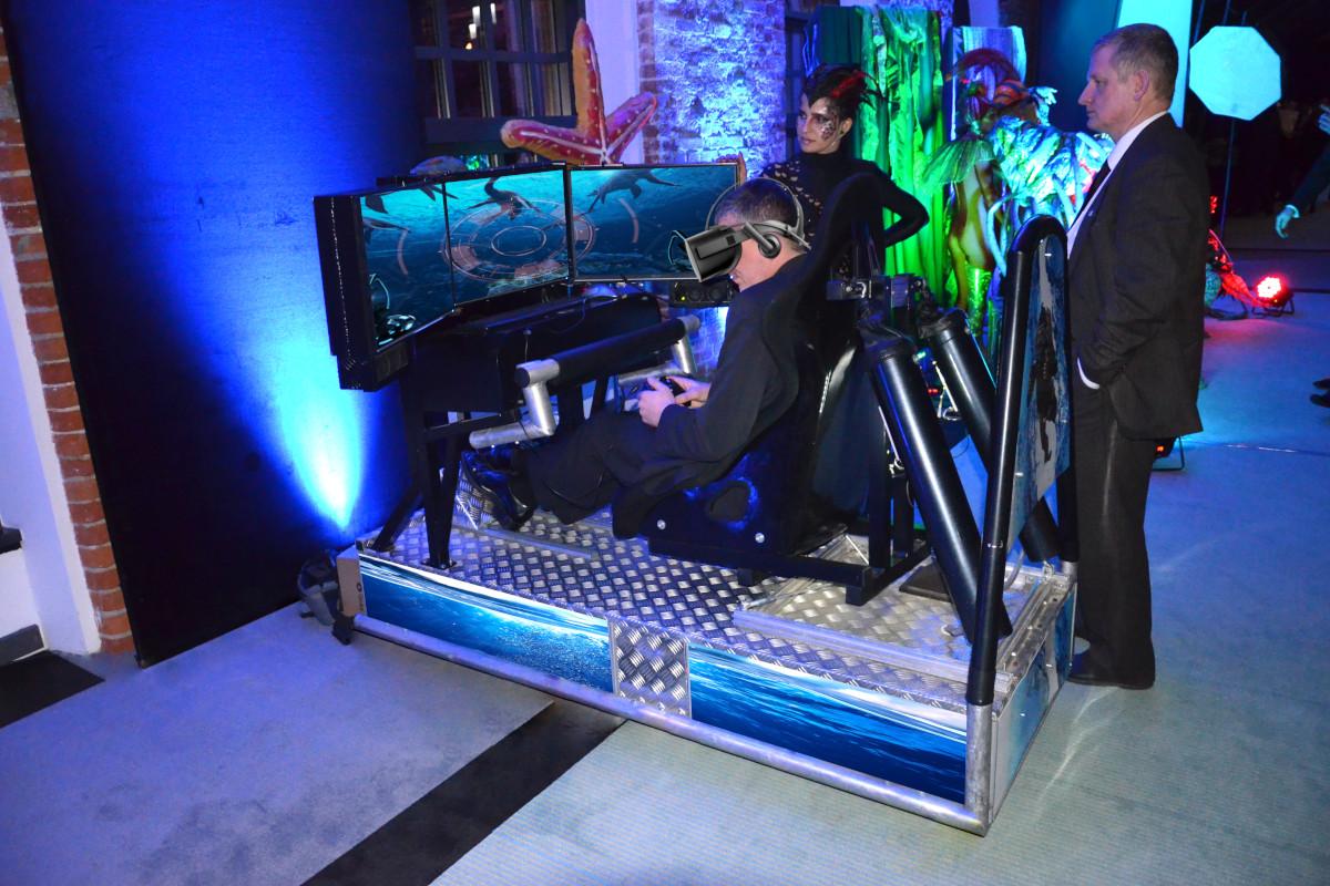 Symulator nurkowania Vr 5D i pływania pod wodą wynajem na event vr