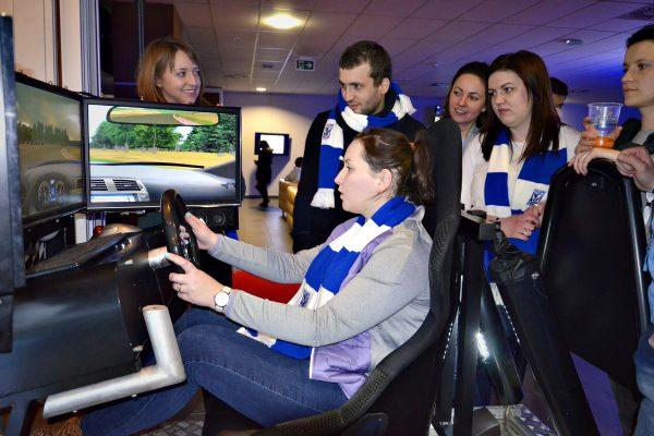 symulator jazdy Stadion Inea Lech Poznań Lexus ISF na torze Poznań