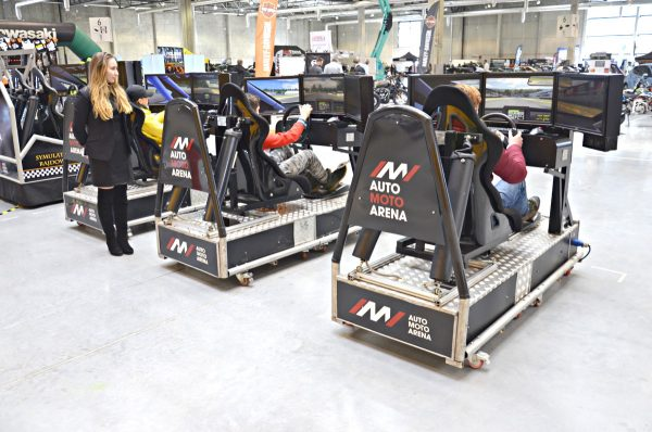 Symulatoryna targi na Auto Moto Arena 2018 Ostróda