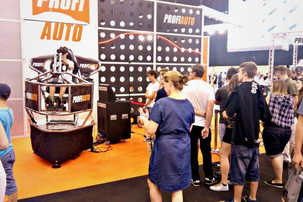 platforma 9d vr - targi ProfiAuto Show 2017 wynajem atrakcji