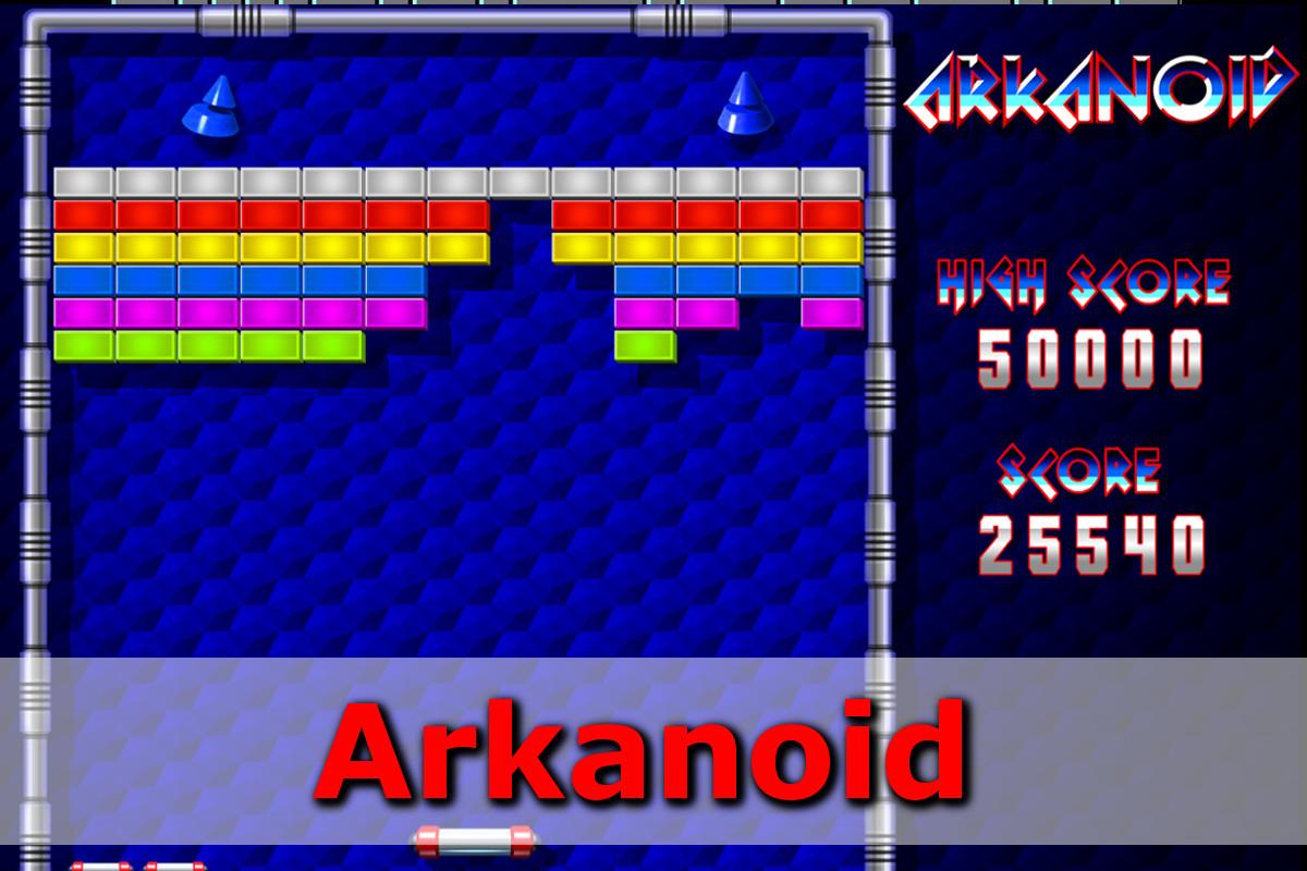 Gry retro - autmomaty na wynajem - arkanoid