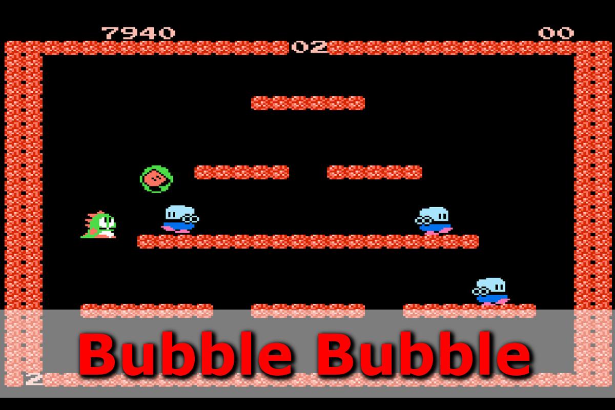 Gry retro - autmomaty na wynajem - bubble bubble