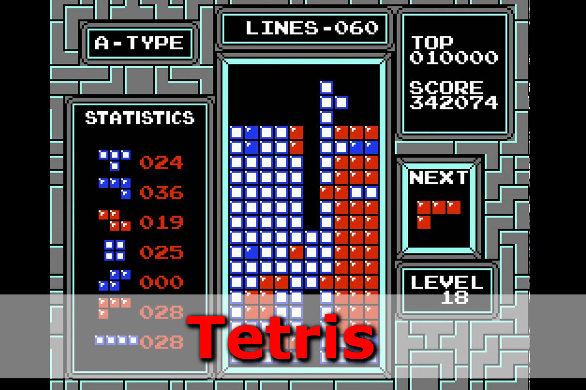 Gry retro - autmomaty na wynajem - tetris