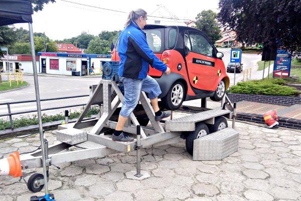 BHP jazdy - symulatory w domu kultury Miłakowo